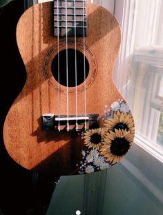 Sunflower Handpainted UkuleleThe post Sunflower Handpainted Ukulele appeared first on Ukulele Music Info. Ukulele Art, Ukulele Songs, Guitar Art Diy, Guitar Boy, Guitar Design, Painted Ukulele, Guitar Painting, Ideias Diy, Art Hoe