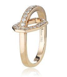 Octium: Diamond and Rose Gold Ring