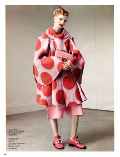 Vogue China August 2012 - Daniel Jackson - comme de Garcons coat with giant spots