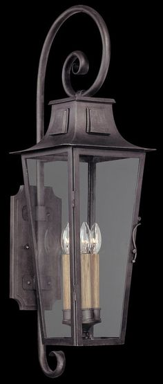 Troy-CSL Lighting B2963 Parisian Square 4 Light 35 inch Aged Pewter Outdoor Wall Lantern in Incandescent