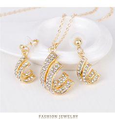 Fashion OL alloy plating Necklace set (CA127-A)NHDR1457 Wholesale Fashion, Necklace Set, Plating, Drop Earrings, Jewelry, Jewlery, Jewerly, Schmuck, Drop Earring