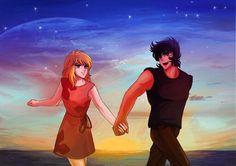 Ikki y Esmeralda. Fanart made by: http://kelly-chen.deviantart.com/
