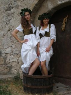 Charming ladies acting as winemakers