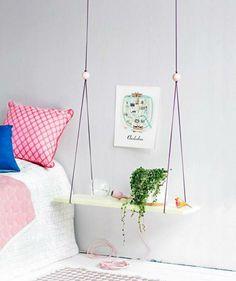 DIY trendikäs yöpöytä Night Table, Floating Nightstand, Wardrobe Rack, Kids Room, Sweet Home, Furniture, Design, Home Decor, Floating Headboard