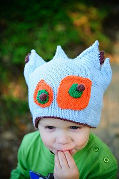 Knit Monster hat for J Pattern on Ravelry