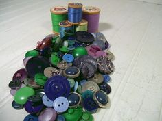 Vintage Variety of Shades of Blues Greens & by DivineOrders