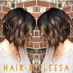 Lovely a-line cut with balayage highlights and basemelt