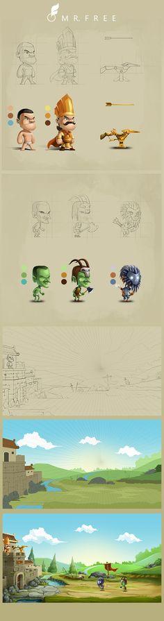 "ArtStation - Concept for ""Tower defense"" game., Hung Nguyen"