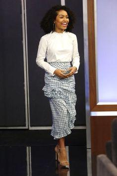 Amazing shirt and skirt combos to try now: Yara Shahidi (Slide 3)