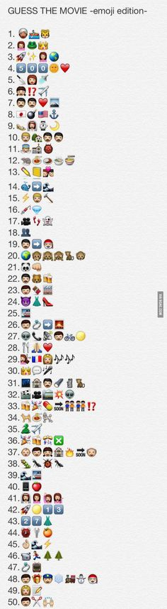 Can you guess them all?