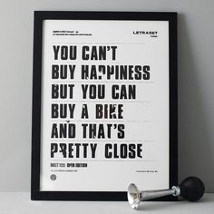 'you can't buy happiness' screen print by anthony oram | notonthehighstreet.com