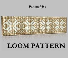 Seed Bead Loom Pattern 16 Two Color Palettes Ice Flowers Loom Bracelet Patterns, Seed Bead Patterns, Bead Loom Bracelets, Beading Patterns, Stitch Patterns, Willow Weaving, Tear, Loom Beading, Color Azul