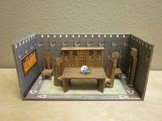 Dollhouse Half Scale roombox of Charles Mackintosh dining room