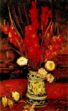 Vincent van Gogh: The Oil Paintings: Vase with Red Gladioli. Paris: Summer, 1886