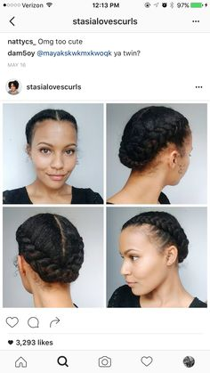 Natural hair wedding idea!