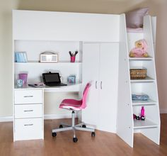 Rutland High Sleeper With Futon Bed Мебель By Tatyana Namaka Pinterest Desks And Bedrooms