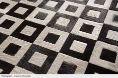Kyle Bunting : Photograph : Contemporary Cowhide Leather Rug Design