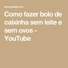 Como fazer bolo de caixinha sem leite e sem ovos - YouTube Bolo Vegan, Youtube, Box Cake, Sprinkles, How To Make Cake, Eggs, Milk, Youtubers, Youtube Movies