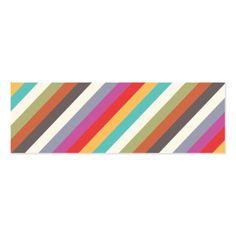 Interior decorating black and white business card interior fun colorful multi stripes mini business card colourmoves
