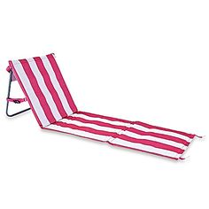 High Quality Folding Beach Chair Mat In Pink Stripe
