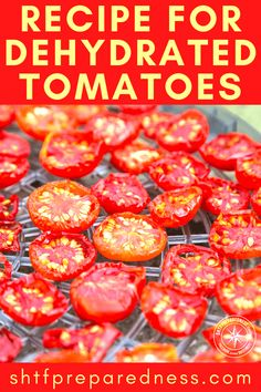 Our favorite recipe for dehydrated tomatoes! Tomatoes are one of the best vegetables to preserve and add to your food storage arsenal. Pressure Cooker Chicken, Pressure Cooker Recipes, Pressure Cooking, Dehydrated Vegetables, Dehydrated Food, Dehydrating Tomatoes, Freezing Tomatoes, Dehydrator Recipes, Cata