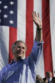 George Bush. Thank you sir for your service and your integrity while you served the United States, and I can say as a Canadian, I miss you!