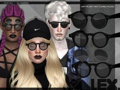 Sims 4 CC's - The Best: Phinex-glasses (3 versions) by Mr.Alex