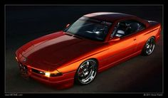 BMW 8 series orange slammed