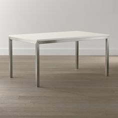 Betonplatte / Edelstahlsockel Parsons Esstisch by Stainless Steel Dining Table, Concrete Dining Table, Dining Room Table, Condo Furniture, Unique Furniture, Custom Furniture, Scandinavian Living, Marble Top, Carrara Marble