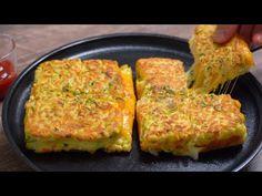 아침으로 두부요리 이렇게 드세요! 식빵없이 두부가 통으로 들어간 두부 토스트~!! - YouTube Quick Recipes, Korean Food, Recipe Of The Day, Drinking Tea, Brunch, Veggies, Tasty, Diet, Snacks