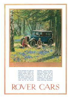 wonderful Rover ad from 1927