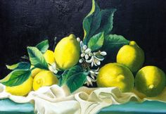 limoni olio su tela