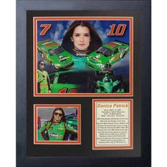 Legends Never Die Danica Patrick Framed Photo Collage, 11 inch x 14 inch