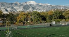 The fields and courts at Colorado College, in Colorado Springs, Colorado. Study hard, play hard. #colorado @coloradocollege