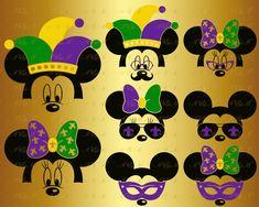 f487df576c0f77 Mardi Gras SVG Mickey Mouse Decal Minnie Head Face Ears Silhouette Fleur De  Lis Carnival Mask Kids Party Png Eps Dxf Vinyl Cut File