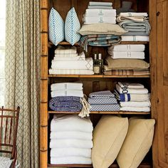 Step 7 to an Organized Home: Keep Linen Storage Tidy