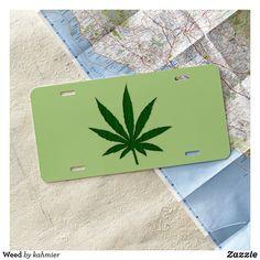Weed License Plate #