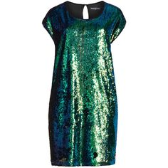 Manon Baptiste Green / Black Plus Size Sequin front dress ($140) ❤ liked on Polyvore featuring dresses, green, plus size, chiffon dresses, plus size cocktail dresses, green dress, green cocktail dress and ball dresses