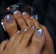 Get nails, glitter toe nails, cute toe nails, sassy nails, toe Pretty Toe Nails, Cute Toe Nails, Sassy Nails, Pretty Pedicures, Pretty Toes, Toe Nail Color, Toe Nail Art, Nail Colors, Nail Designs Spring