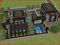 sims 2 :-) ouse | Sims 2 modern dream house by ~RamboRocky on deviantART