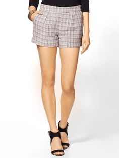 C. Luce Coco Shorts on Wantering | Tweed | womens tweed shorts #womenstweedshorts | womensshorts #womensstyle #womensfashion #style #fashion #GIF #gif #gifs #fashiongifs #cluce #wantering http://www.wantering.com/womens-clothing-item/coco-shorts/agPt9/