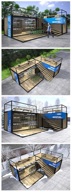 Exhibition Stall Design, Exhibition Stands, Hotel Centro, Small Restaurant Design, Coffee Shop Business, Trade Show Design, Modern Exterior House Designs, Container Shop, Rest House