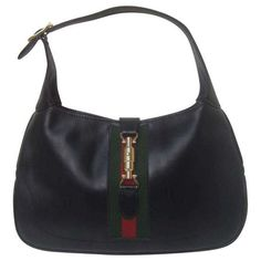 71235f86e2c3 Gucci Iconic Ebony Leather Jackie O Piston Bag. by 193KingsRoad Tolkien,  1970s, Gucci