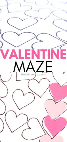 Use this Valentine's Day maze to help kids develop fine motor skills and visual perceptual skills needed for handwriting and reading. This is a good occupational therapy intervention for teletherapy because it needs only paper, pencil, and scissors.