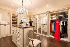 Closet Envy – 1010 Park Place Bedroom Closet Storage, Master Bedroom Closet, Walk In Closet Design, Closet Designs, Apartment Therapy, Ideas Armario, Cheap Bedroom Sets, No Closet Solutions, Closet Lighting