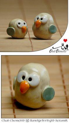 Eulen Paar - aus Keramik von Chat Chouette auf DaWanda.com