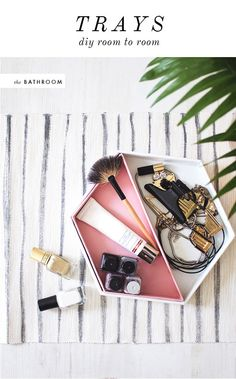 DIY leather vanity tray by Sugar and Cloth
