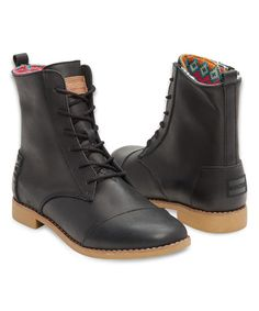 Look at this TOMS Black Classic Alpa Leather Boot on #zulily today!