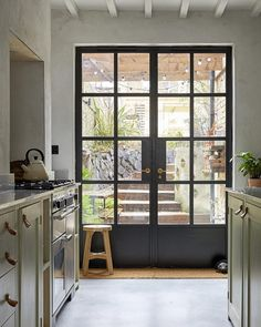 Interior french doors add a beautiful style and elegance to any room in your home. Kitchen Doors, House, Steel Doors And Windows, Home, Interior Barn Doors, Glass French Doors, House Exterior, French Doors Exterior, Doors Interior