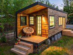 Tiny home for $11,500. An Architect Built This Stunning, 196-Square-Foot 'Tiny Home' In Idaho